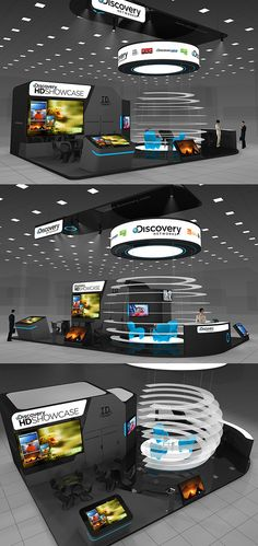 Discovery networks exhibition stand on Behance