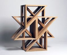 Jaewon Cho from J1 Studio, M.stool (in oak), stools alltogether seem to be a sculpture.