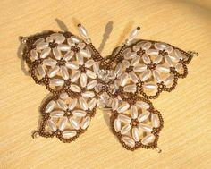 Бабочка из бисера - Бисероплетение