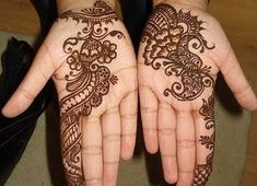 Mehndi is the application of henna as a temporary form of skin decoration in South Asia and diaspora from these areas. Mehendi decoration came into vogue in the West in the late where they are sometimes called henna tattoos. Henna Hand Designs, Eid Mehndi Designs, Beautiful Arabic Mehndi Designs, Pakistani Henna Designs, Mehandi Design For Hand, Arabic Henna Designs, Mehndi Designs For Beginners, Mehndi Design Images, Latest Mehndi Designs
