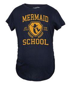 Navy 'Mermaid School' Maternity Tee #zulily #zulilyfinds