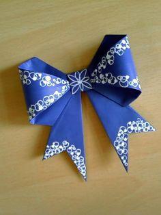 DIY origami gift bow DIY Origami DIY Craft