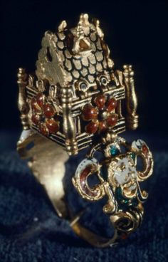Marriage ring. Western European, 19th century, in the 16th-century style, possibly Italian. At the MFA Boston.
