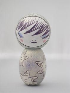 Pretty painted Kokeshi doll