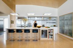 closed off glass wall kitchen designs - Google Search