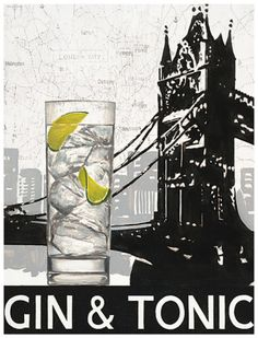 Gin and Tonic-a refreshing summer drink