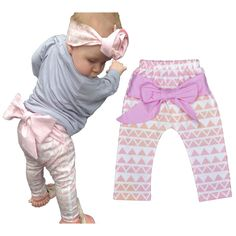 Bobo Choses Baby Girls Harem Pants 2-6 years baby girls clothes Leopard Printed big bow baby girl pants toddler girls clothing