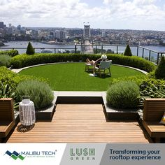 With a number of roof top and penthouse #LushGreen artificial turf installations. Our talents are equipped with the right experience to transform your rooftops into flawless garden areas.  #MalibuTech #ArtificialTurf