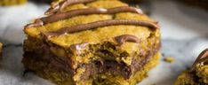 Tastee Recipe Stuff Your Face With These Nutella-Packed Pumpkin Bars - Go On! Have two... - Tastee Recipe