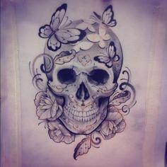 beautiful skull tattoos for women - Google Search