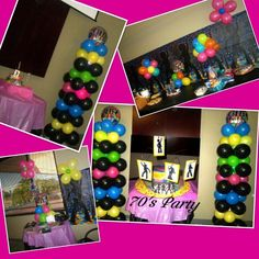 1000 images about my soul train themed party on pinterest for 70 s decoration ideas