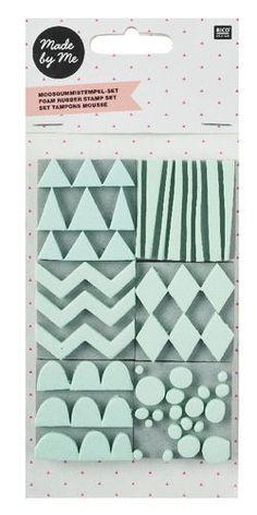 Moosgummi-Stempel Muster 6er-Set