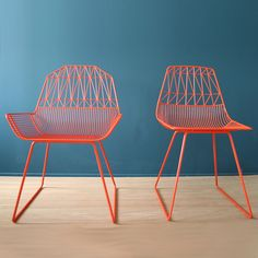 metallic colored chairs