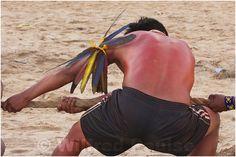 _MG_9187 Disputa de Cabo de Guerra no XII Jogos dos Povos Indigenas em Cuiabá, Mato Grosso, Brasil.