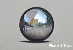 How to Draw a Chrome Sphere With Colors #art #drawing #FinArtTips #sphere #tutorial #chrometexture #artistleonardo #LeonardoPereznieto Take a look to my book here: http://www.artistleonardo.com/#!ebooks-english/cswd