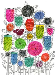 Spring blossoms by Lisa Congdon