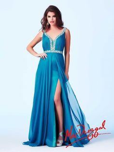 Long Peacock Prom Dress | Mac Duggal 64658A