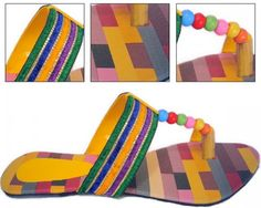 A new season means a new reason to upgrade your shoe collection. These chappals are the latest fashion trend for summer of 2014.  These gorgeous shoes have been hand-decorated in a colourful, easy, breezy summer design. The vibrant colours give these shoes a lustre that is unique and stunning.