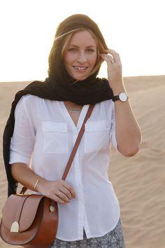What to wear on a desert safari in Dubai.