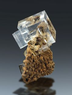 Fluorite on matrix - Dal'negorsk, Primorskiy Kray, Far-Eastern Region, Russia