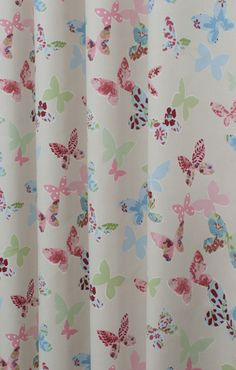 Butterfly Vintage Novelty Made to Measure Curtains…