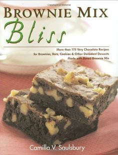 Brownie Mix Bliss: More Than 175 Very Chocolate Recipes for Brownies, Bars, Cookies and Other Decadent Desserts Made with Boxed Brownie Mix by Camilla Saulsbury, http://www.amazon.com/dp/1581824440/ref=cm_sw_r_pi_dp_AYhdrb140J2W3