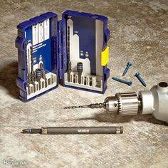 Check out this great gift for basement remodelers (and anyone else who drives lots of concrete screws): the Irwin 1881131 Impact Performance Series Concrete Screw Drill-Drive Installation Set. This nine-piece set contains everything dad needs to drive the most common concrete screw sizes: four drill bits, a drive sleeve, two hex drive bits and two Phillips drive bits. The drive sleeve makes it simple to shift from drilling to driving in seconds.