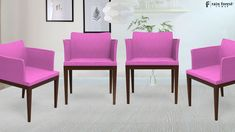 Umod Chair With Bubblegum Pink Color & Sheesham Wood Crafted By Fine Artists, Designed And Manufactured By Rainforest Italy In India. Luxury Dining Chair, Luxury Chairs, Dining Chair Set, Dining Table, Stylish Chairs, Diy Chair, Kitchen Chairs, Chair Design, Home Furniture