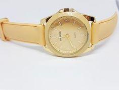 Pale Beige Women's Embassy Watch   Elegant Embassy Quartz Watch – Vintage Radar