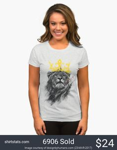 This one is for all the leaders and Leos out there. This T shirt is for those who refuse to be lead by others. This amazing graphic tee is stunning and regal. Featuring a proud lion gracing us with his majestic presence all while being gently adorned by a golden crown.