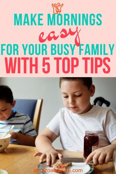 Discover 5 tips to create an easy morning routine for your busy family. Whether you need more time for you, or you want to get everyone involved in getting things done, these tips will help you achieve that goal. Family Rules, Family Goals, Family Life, Becoming Mom, Family Organizer, Family Outing, Family Adventure, Work From Home Moms, Family Traditions