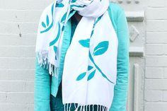 Show details for Spring Leaves ColorShot Scarf