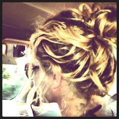 Natural summer hair.