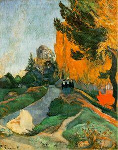 "DE ARTE EM ARTE : PINTURAS PÓS-IMPRESSIONISTAS - PAUL GAUGUIN E PAUL SERUSIER-""Os Alyscamps"" - Paul Gauguin"