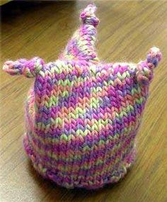 Jester Baby Hat Knitting Pattern...hmmm...maybe I can increase the stitches to make an adult jester hat.