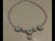 bellissima la maglia della catenina di perline e biconi ▶ Blue Roses Necklace - Connecting the bezels and the chain P2 - YouTube