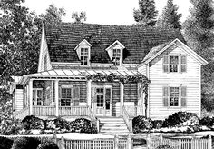 Looking for the best house plans? Check out the Port Royal Coastal Cottage plan from Southern Living. House Plans One Story, Best House Plans, Small House Plans, House Floor Plans, House Stairs, Basement Stairs, Southern Living House Plans, Old Farm Houses, Country Houses
