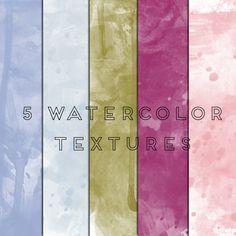 Freebie | 5 Watercolor Textures
