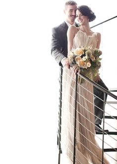 Amazing photography - and look at both her dress and her bouquet! ♥    (via Grey Likes Weddings)