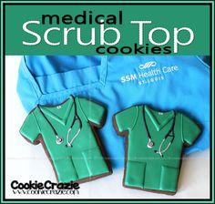 CookieCrazie: Scrub Top and Adhesive Bandage Cookies (Tutorial)
