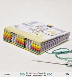 Minialbum mit Knopflochbindung   eine DIY Anleitung von Mel für www.danipeuss.de