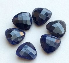 WHOLESALE 10 Pcs Blue Corundum Cabochons Blue by gemsforjewels