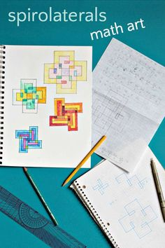 Create amazing math art patterns with spirolaterals. A creative way to practice multiplication tables.