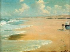 Peder Severin Krøyer (23 July 1851 - 21 November 1909), known as P.S. Krøyer, was a Norwegian-Danish painter. He is one of the best known and beloved, and undeniably the most colorful of the Skagen Painters, a community of Danish and Nordic artists who lived, gathered or worked in Skagen, Denmark, especially during the final decades of the 19th century. Krøyer was the unofficial leader of the group.