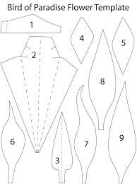 Bird of Paradise Paper flowers templates - For all your cake decorating…