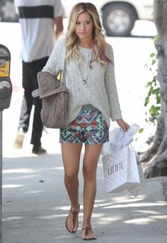 Sam Edelman Gigi Sandal in Many Colors - as seen on Ashley Tisdale  Such a cute simple outfit!