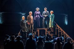 Alex Price, Paul Thornley, Noma Dumezweni, Jamie Parker and Poppy Miller in Harry Potter and the Cursed Child. Palace Theatre. London. 2016