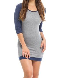 Gray Raglan French Terry Dress | Shop this product here: spree.to/xge | Shop all of our products at http://spreesy.com/CrystalSelect    | Pinterest selling powered by Spreesy.com