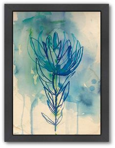 Blue Wash Protea fine art print - a Sweet William illustration on archival paper. Small and Medium size Painting Prints, Wall Art Prints, Fine Art Prints, Paintings, Watercolor Flowers, Watercolor Art, Protea Art, Framed Wall Art, Giclee Print