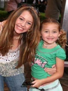 Miley Cyrus and Noah Cyrus. How cute does Noah look??
